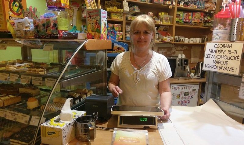 Pokladna miniPOS v cukrárně