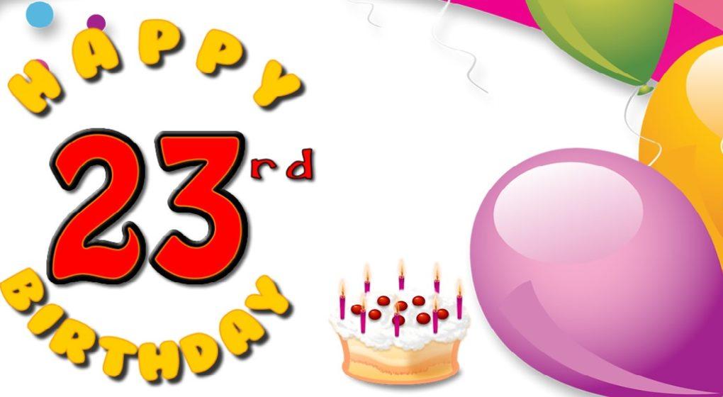Oslava narozenin, dort, svíčky, 23 let