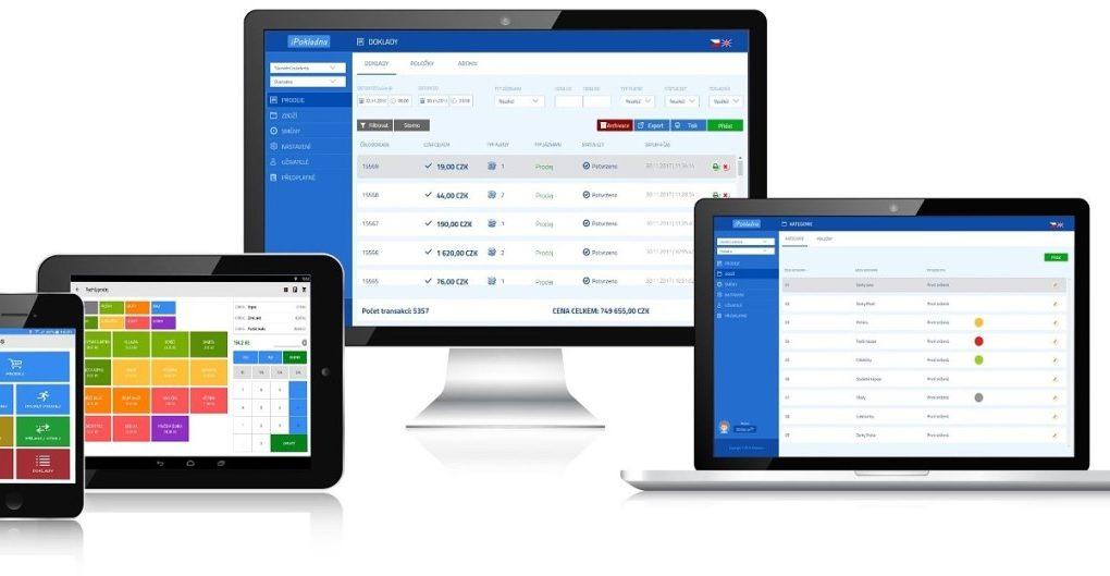 Pokladní systém miniPOS - mobilní pokladna Android na tabletu a mobilu - vzdálená správa přes web - záloha dat v Cloudu
